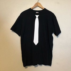 Black and White Tie TShirt - Large